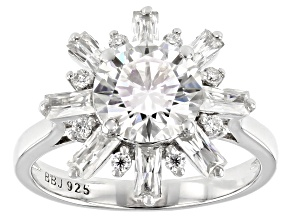 Moissanite Platineve Ring 2.88ctw DEW.