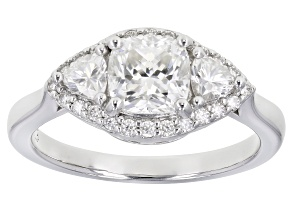 Moissanite Platineve Ring 1.62ctw Dew