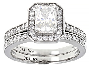 Moissanite Platineve Ring With Band 1.73ctw Dew