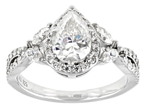 Moissanite Platineve Ring 2.23ctw Dew