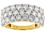 Moissanite 14k Yellow Gold Over Silver Wide Band Ring 2.50ctw DEW.