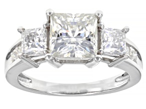 Moissanite Platineve Ring 3.40ctw Dew