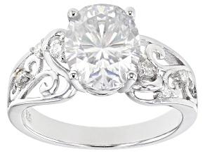 Moissanite Platineve Engagement Ring 3.12ctw.