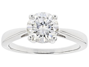 Moissanite Platineve Ring 1.50ct DEW