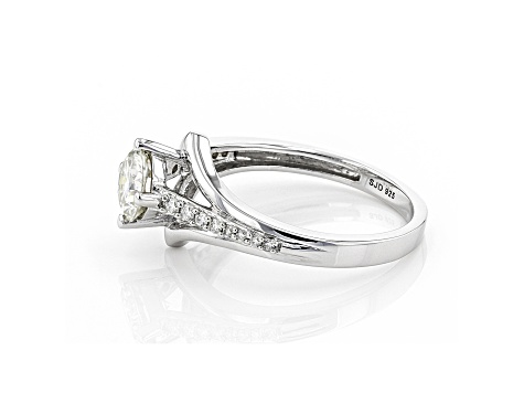 Moissanite Platineve Ring .96ctw DEW