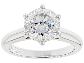 Moissanite Inferno cut Platineve ring 3.08ct DEW.