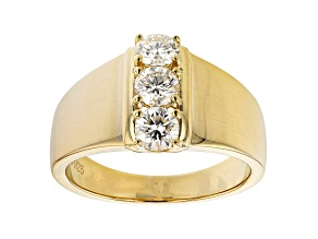 Moissanite 14k Yellow Gold Over Silver Ring .69ctw DEW