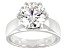 Moissanite Platineve Solitaire Ring 4.20ct DEW