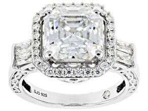 Moissanite Platineve Engagement Ring 5.29ctw DEW