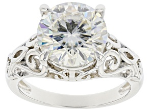 Moissanite platineve solitaire ring 4.20ct
