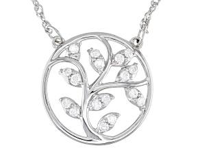 Moissanite platineve tree necklace .17ctw DEW