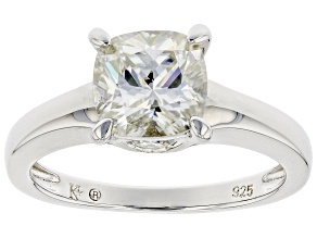 Moissanite platineve engagement ring 2.26ctw DEW