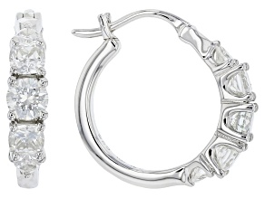 Moissanite Platineve Hoop Earrings 1.04ctw DEW