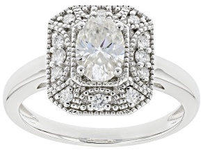Moissanite Platineve(R) Vintage Style Ring 1.10ctw DEW