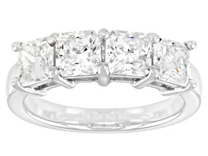 Moissanite Platineve Band Ring 1.56ctw DEW