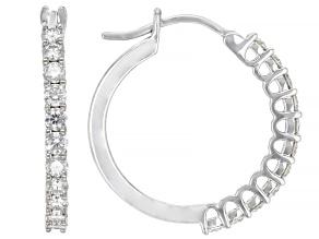 Moissanite Platineve Hoop Earrings .88ctw DEW