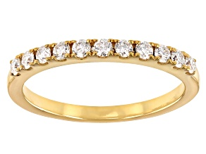 Moissanite 14k Yellow Gold Over Sterling Silver Band .33ctw DEW
