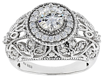 Picture of Moissanite Platineve Ring 1.54ctw D.E.W