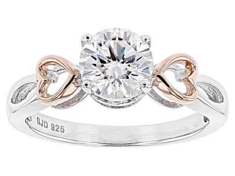 Moissanite Ring Platineve Two Tone 1.00ctw DEW.