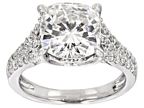 Moissanite Ring Platineve™ 4.68ctw DEW