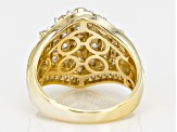 Moissanite 14k Yellow Gold Over Sterling Silver Ring 1.78ctw DEW