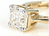 Moissanite 14k Yellow Gold Ring 2.96ctw DEW