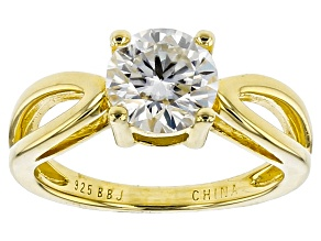 Moissanite 14k Yellow Gold Over Silver Ring 1.20ct DEW