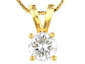 Moissanite 14k Yellow Gold Over Sterling Silver Pendant 1.00ct D.E.W