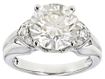 Picture of Moissanite Platineve Ring 3.74ctw D.E.W