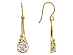 Moissanite 14k Yellow Gold Over Silver Earrings