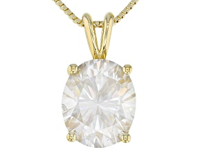 Moissanite 14K Yellow Gold Over Silver Pendant 5.80ctw D.E.W