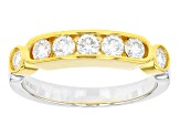 Moissanite Platineve Two Tone Ring .70ctw D.E.W