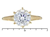 Moissanite 14k Yellow Gold Over Silver Ring 2.98ctw DEW