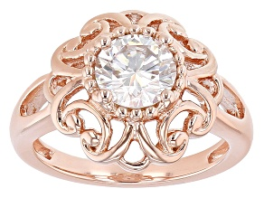 Moissanite 14k Rose Gold Over Silver Ring 1.20ctw DEW