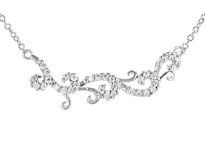 Moissanite Platineve Necklace .66ctw D.E.W