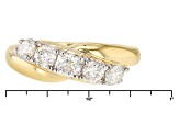 Moissanite 14k Yellow Gold Over Silver Ring .82ctw DEW