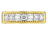 Moissanite 14k Yellow Gold Over Silver Ring .70ctw DEW