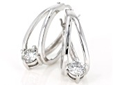 Moissanite Fire® 1.00ctw Diamond Equivalent Weight Round Platineve® Earrings