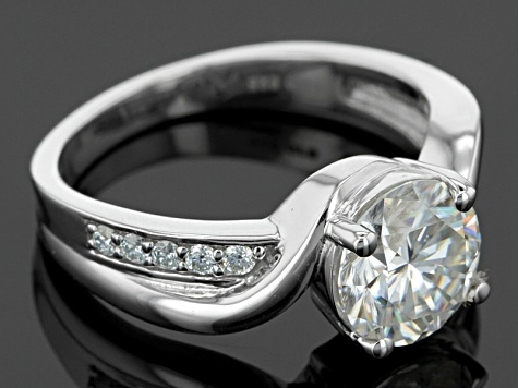 Moissanite Fire® 2.10ctw Diamond Equivalent Weight Round Platineve™ Ring