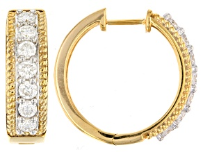 Moissanite 14k Yellow Gold Over Silver Earrings 1.40ctw D.E.W