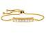 Moissanite 14k Yellow Gold Over Silver Adjustable Bracelet 1.61ctw DEW
