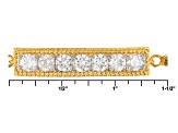 Moissanite 14k Yellow Gold Over Silver Adjustable Bracelet 1.61ctw DEW