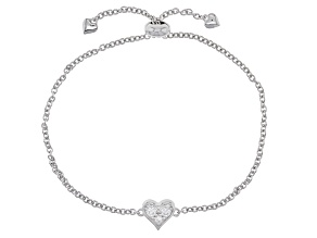 Moissanite Platineve Adjustable Bracelet .24ctw DEW