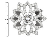 Moissanite Fire® 3.76ctw Diamond Equivalent Weight Round Platineve™ Ring