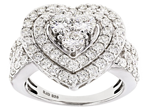 Moissanite Fire® 2.70ctw Diamond Equivalent Weight Round Platineve™ Ring