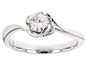 Moissanite Platineve Ring .33ct D.E.W