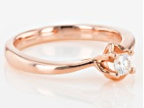 Moissanite 14k Rose Gold Over Silver Ring .16ct DEW