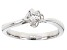 Moissanite Platineve Ring .16ct DEW