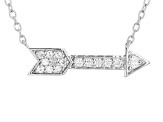 Moissanite Fire® .22ctw Diamond Equivalent Weight Round, Platineve™ Necklace