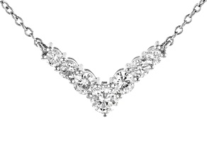 Moissanite Fire® 1.48ctw Diamond Equivalent Weight Round Platineve™ Necklace.